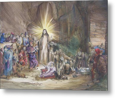 Christ Preaching          Metal Print