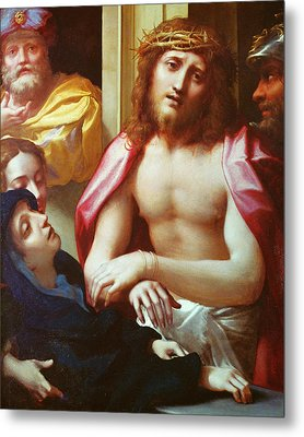 Christ Presented To The People Metal Print by Correggio