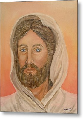 Metal Print featuring the painting Christ by Quwatha Valentine