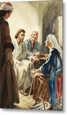 Christ Talking Metal Print by Henry Coller