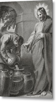Christ Turning Water Into Wine, From Metal Print
