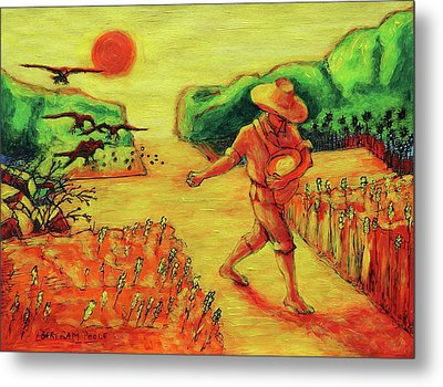 Christian Art Parable Of The Sower Artwork T Bertram Poole Metal Print by Thomas Bertram POOLE