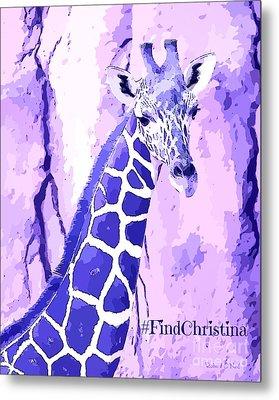 Christina's Giraffe Metal Print by Robert ONeil