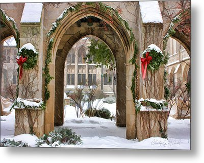 Christmas Arch Metal Print by Christopher Arndt