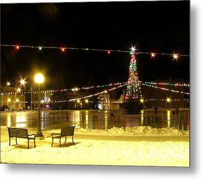 Christmas At The Anaconda Commons Metal Print by Katie LaSalle-Lowery