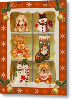 Christmas At The Cuddly House Metal Print