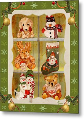 Christmas At The Cuddly House I Metal Print