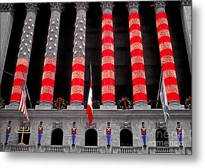 Christmas At The Exchange Metal Print by Linda  Parker