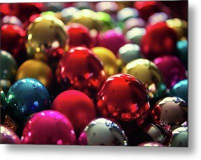 Christmas Baubles Metal Print