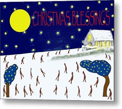 Christmas Blessings 8 Metal Print by Patrick J Murphy