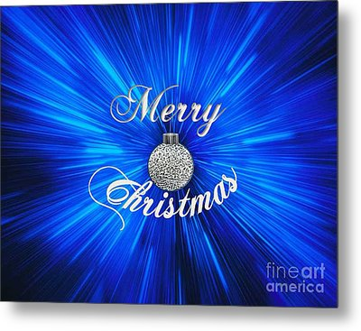 Christmas Brillance Metal Print by Belinda Threeths