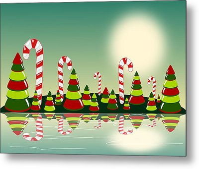 Christmas Candy Island Metal Print