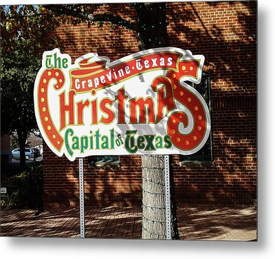 Christmas Capital Of Texas Metal Print by Allen Sheffield