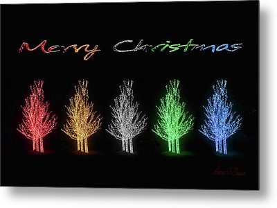 Christmas Card 2016 Metal Print by Robert J Sadler