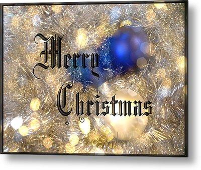 Christmas Card Design Merry Christmas Metal Print by Karen Musick
