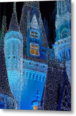 Christmas Castle Metal Print