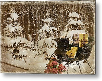 Christmas Delivery Metal Print by Maria Dryfhout