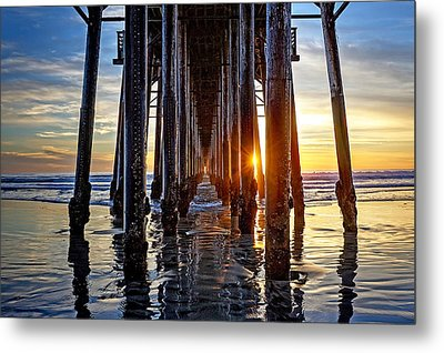 Christmas Eve At The Pier Metal Print