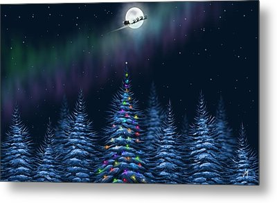 Metal Print featuring the painting Christmas Eve by Veronica Minozzi