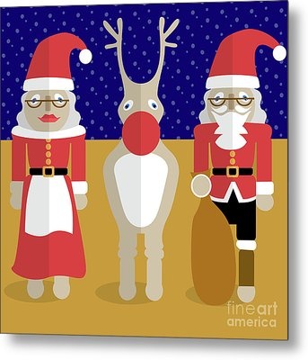 Christmas Family  Metal Print