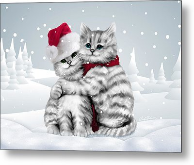 Christmas Hug Metal Print by Cindy Anderson