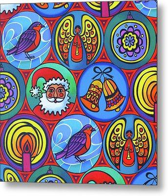 Christmas In Circles Metal Print by Jane Tattersfield