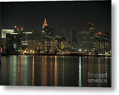 Christmas In San Diego Metal Print by Stan and Anne Foster