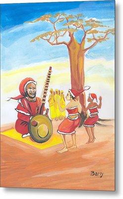 Christmas In Senegal Metal Print by Emmanuel Baliyanga