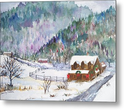 Christmas In The Mountains Metal Print by Sandy Collier