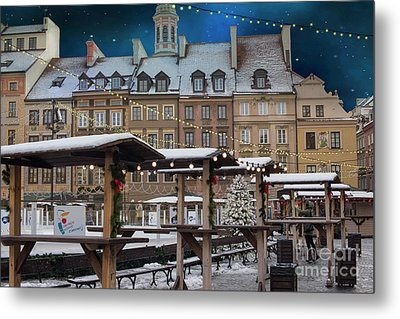 Metal Print featuring the photograph Christmas In Warsaw by Juli Scalzi