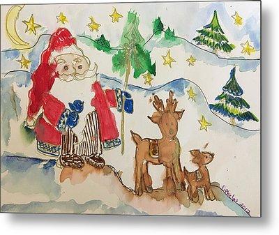 Christmas Is Coming  Metal Print