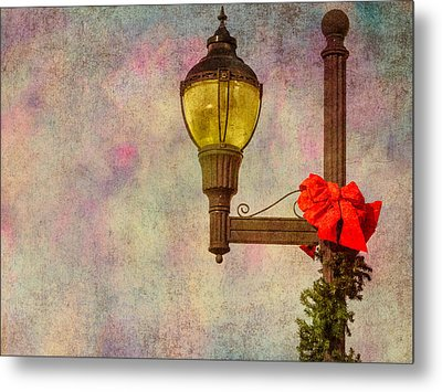 Christmas Lamp Post Metal Print by Phillip Burrow
