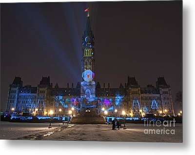 Christmas Lights Across Canada.. Metal Print by Nina Stavlund