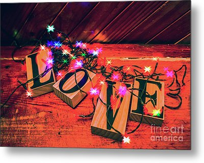 Christmas Love Decoration Metal Print by Jorgo Photography - Wall Art Gallery