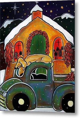 Christmas Mass Metal Print