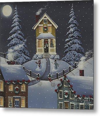 Christmas On Hickory Hill Metal Print by Catherine Holman
