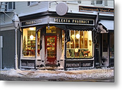 Christmas On Main St. Metal Print