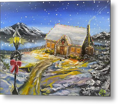 Christmas On The Bay Metal Print by Kevin F Heuman