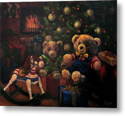 Metal Print featuring the painting Christmas Past by Karen Ilari