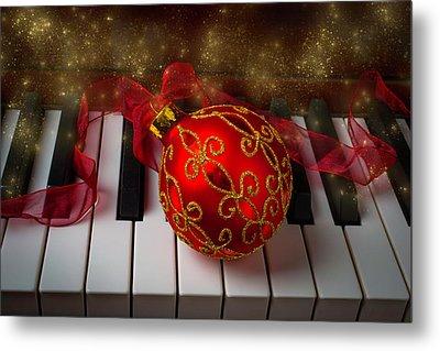Christmas Red Ornament Metal Print