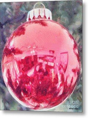Christmas Reflected Metal Print by Jeff Kolker