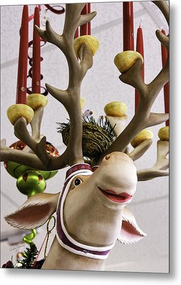 Metal Print featuring the photograph Christmas Reindeer Games by Betty Denise