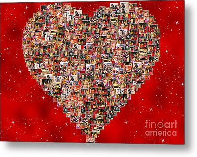 Christmas Sales Pictures Collage Metal Print