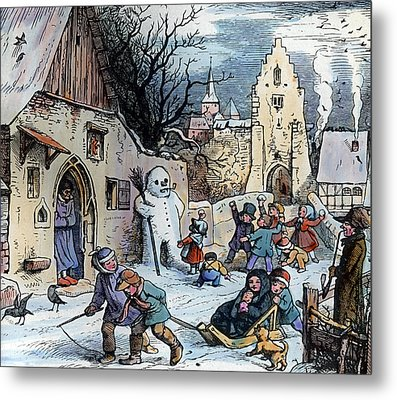 Christmas Scene Metal Print by German School