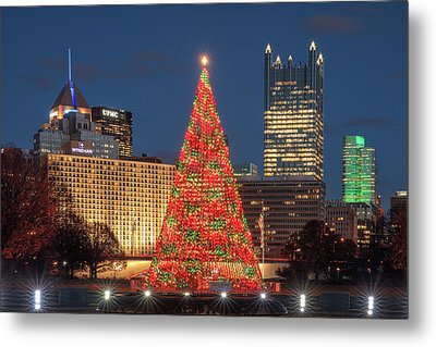 Metal Print featuring the photograph Christmas  Season In Pittsburgh  by Emmanuel Panagiotakis