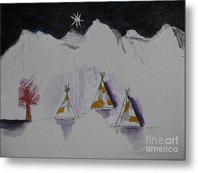 Christmas Teepees Metal Print by James SheppardIII