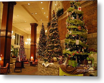 Metal Print featuring the photograph Christmas Tree by Eric Liller