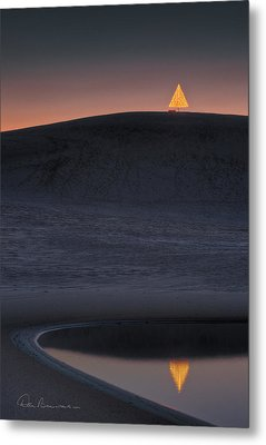 Christmas Tree On Jockey's Ridge 6970 Metal Print