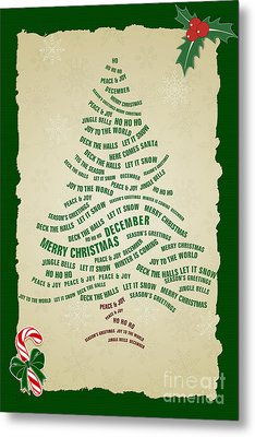 Christmas Tree Thoughts Metal Print by Bedros Awak