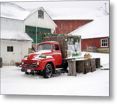 Christmas Truck 2010 Metal Print